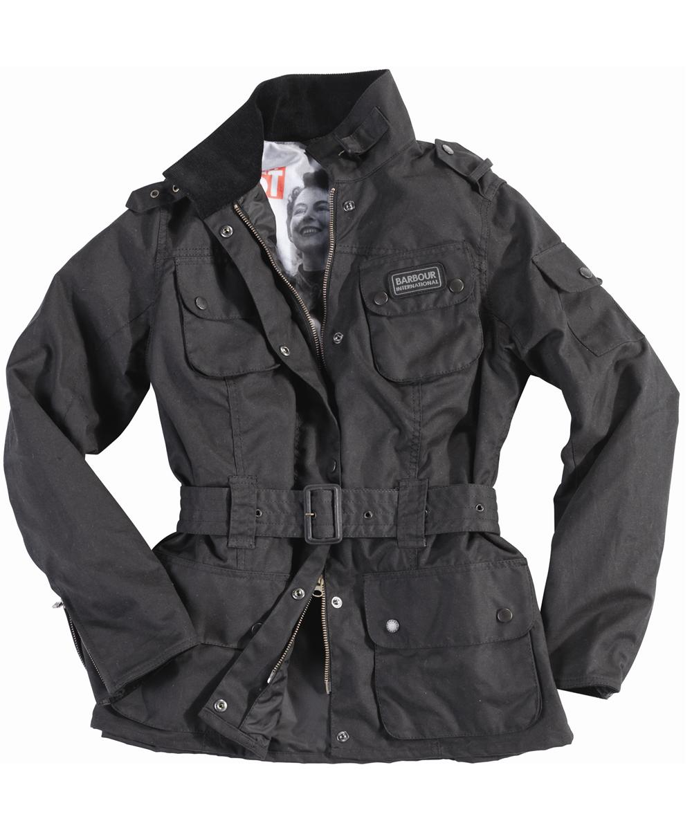 Cheap Barbour June International Waxed Jacket Black
