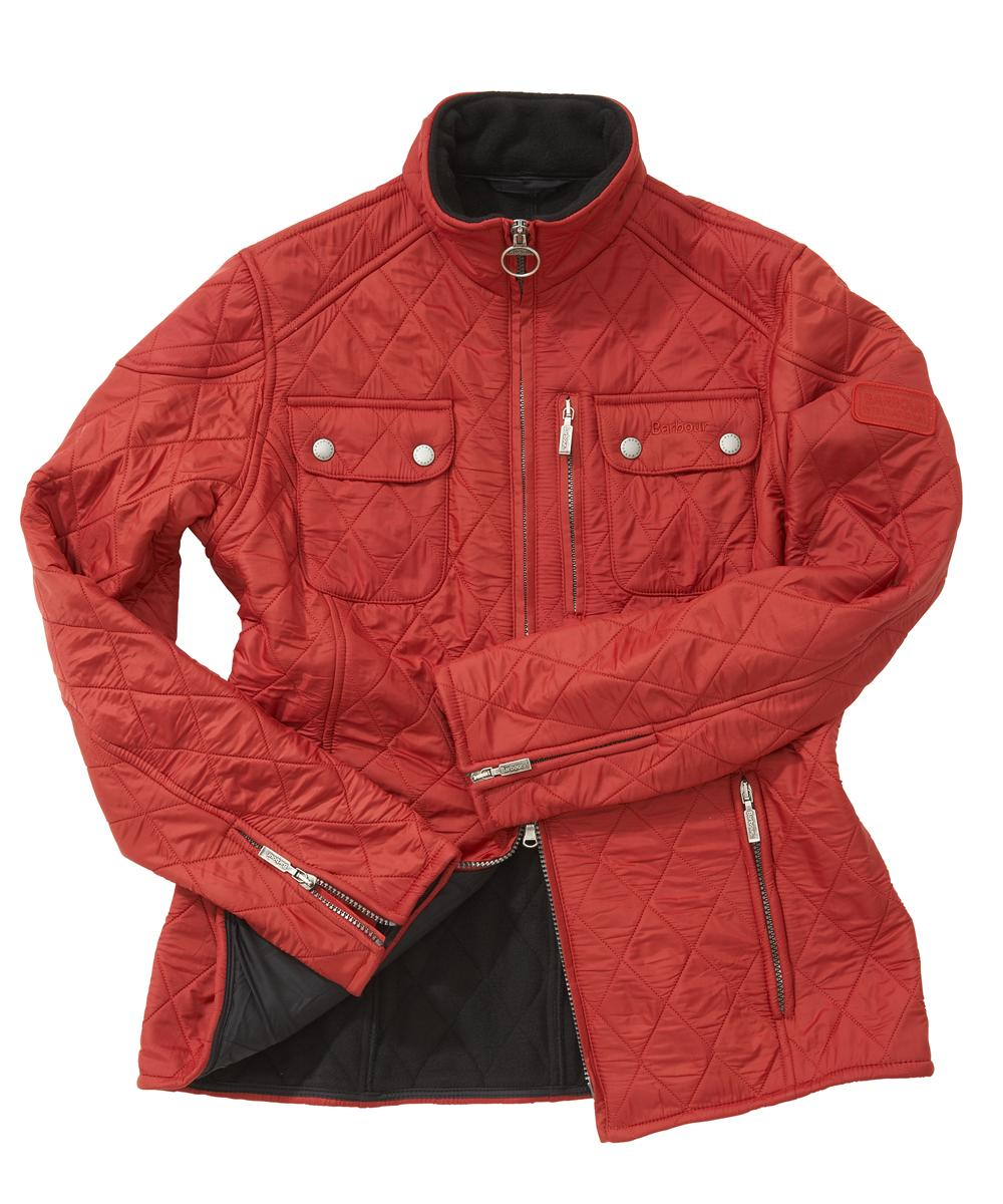 Cheap Barbour Ladies International Trials Polarquilt Jacket Red