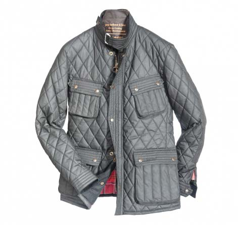 Barbour Motor Bike Quilt Jacket Black In Discount