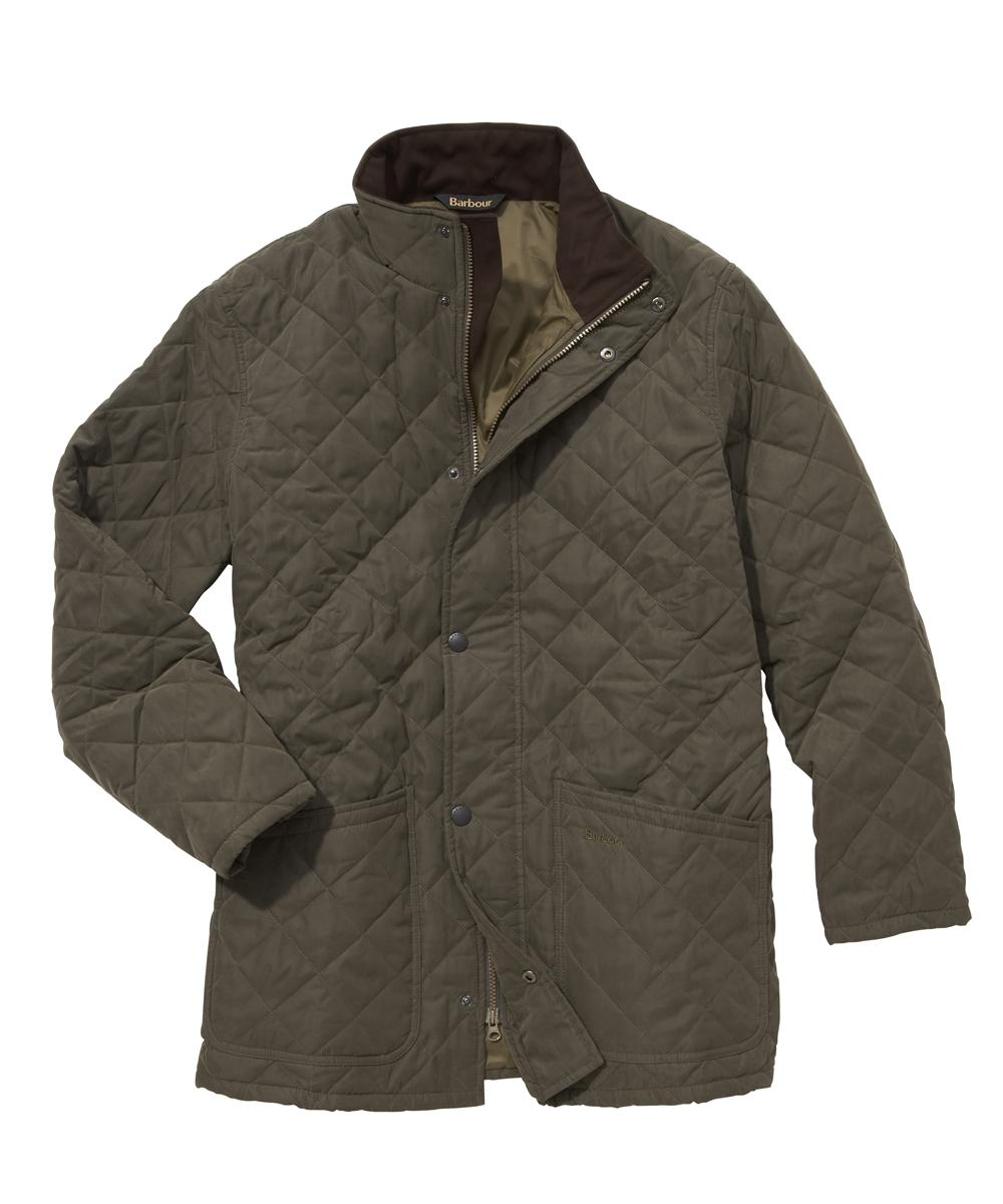 Barbour Hampton Quilt Jacket- Forrest Green In Discount