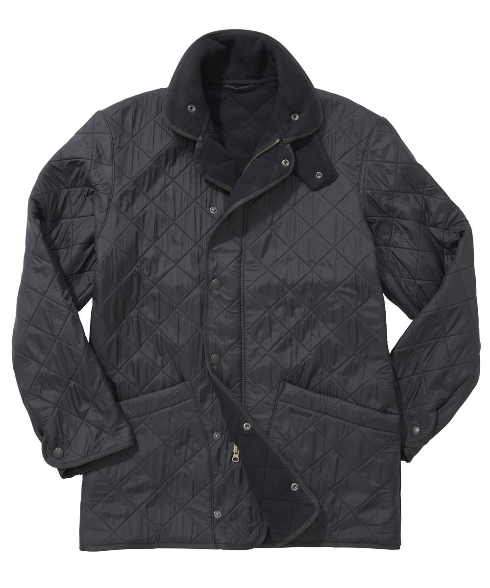 Barbour Mens Polarquilt Jacket - Long - Navy In Discount