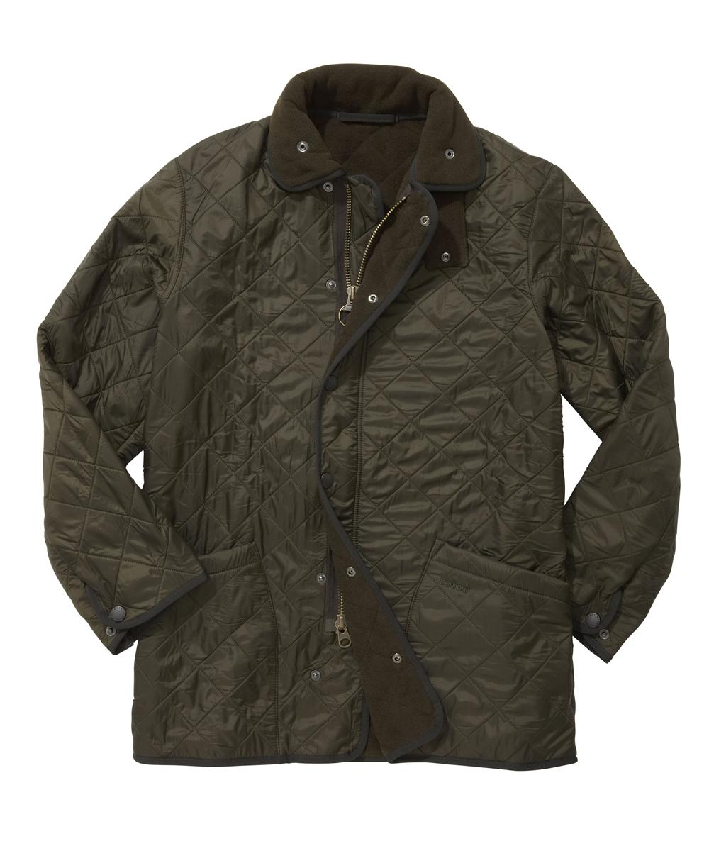 Barbour Mens Polarquilt Jacket - Long - Olive In Discount