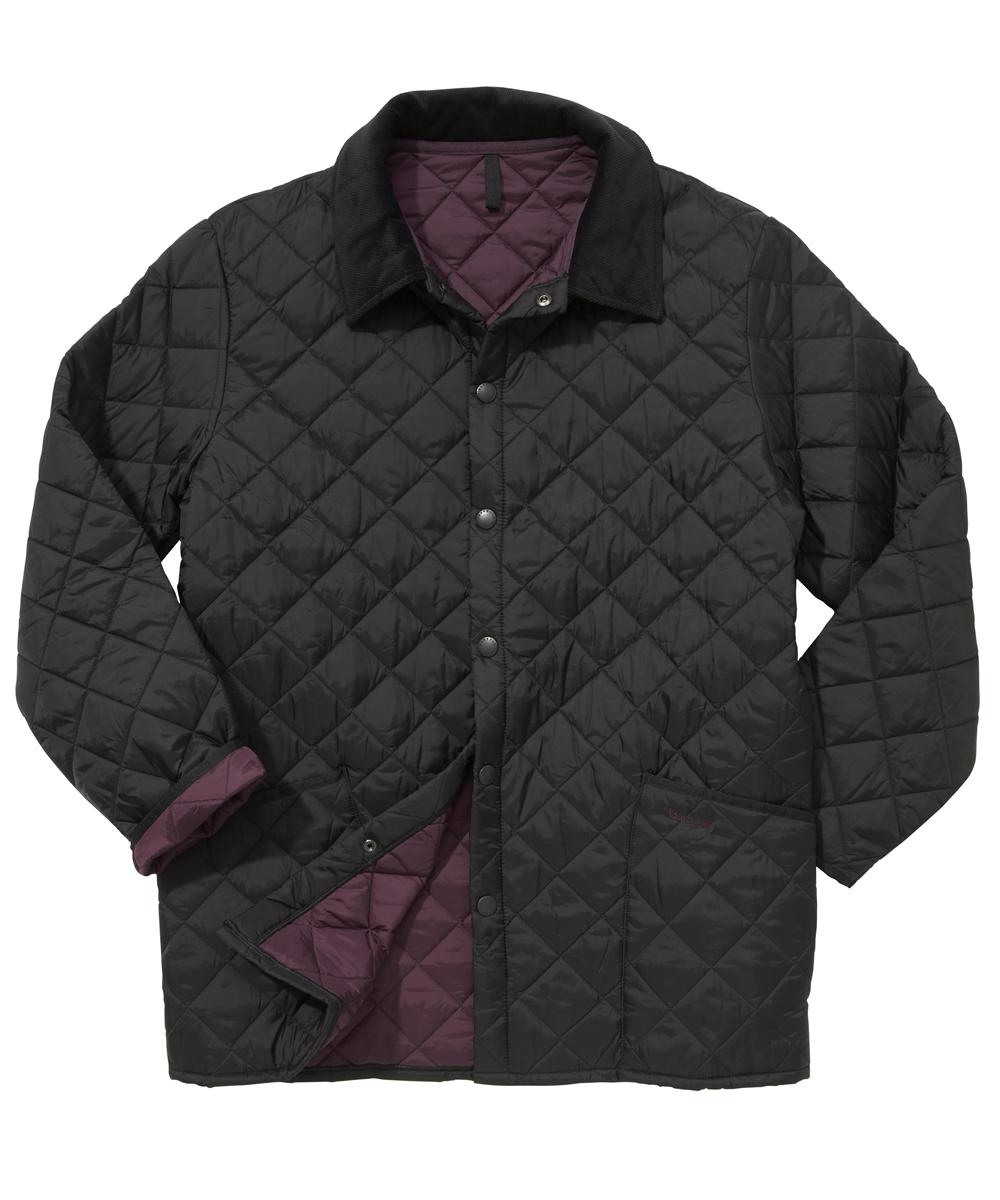 Barbour Liddesdale Jacket- Black | Purple In Discount