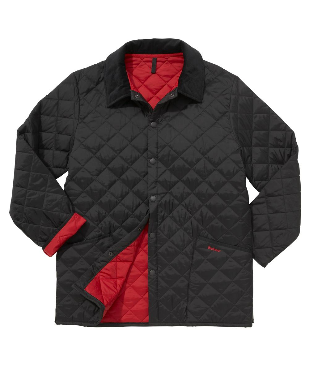 Barbour Liddesdale Jacket- Black | Red In Discount