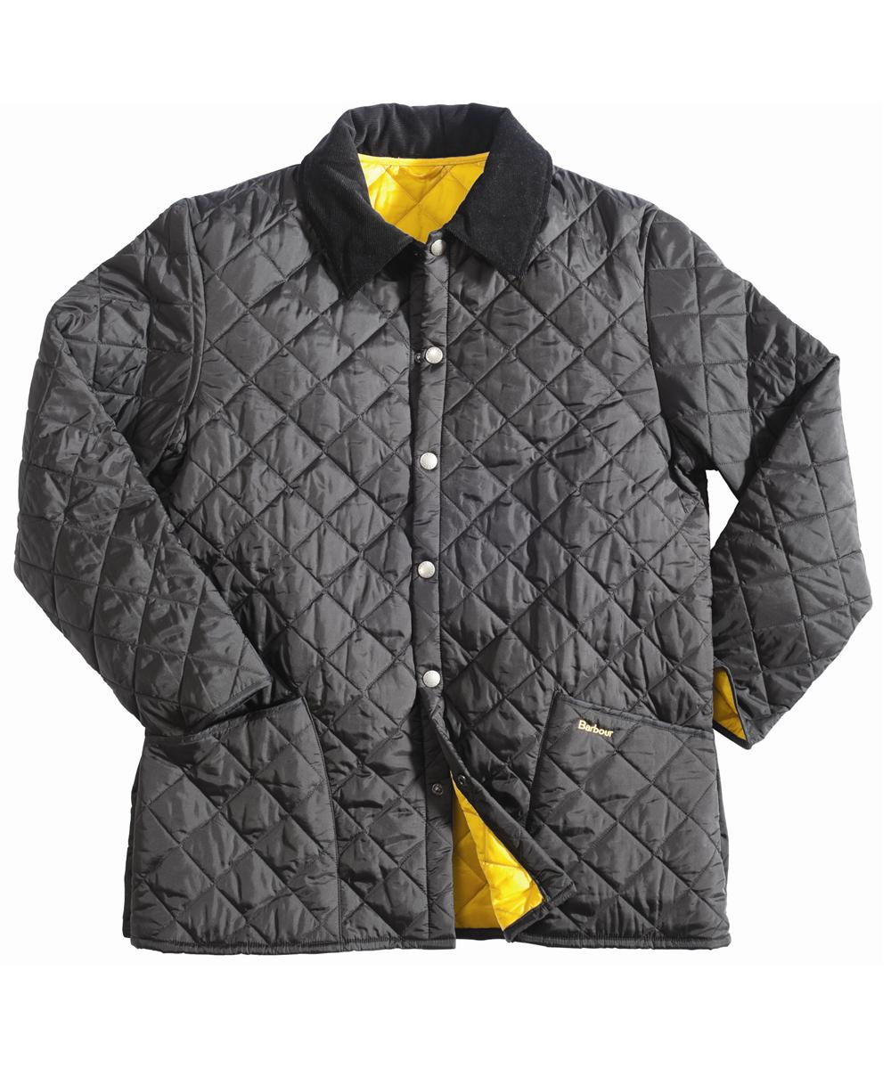 Barbour Liddesdale Jacket - Black | Yellow In Discount