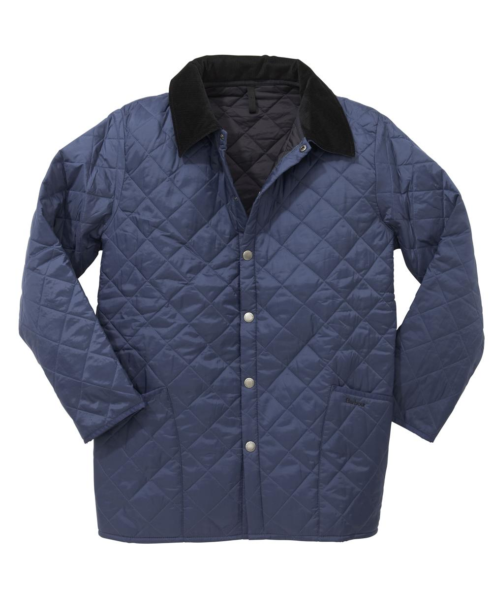 Barbour Liddesdale Jacket - Mid Blue | Navy In Discount