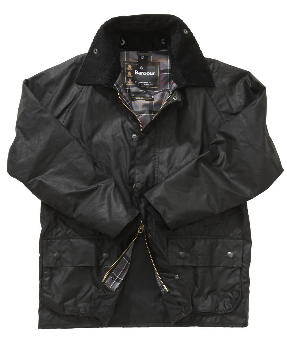 Barbour Bedale Jacket- Black | Modern Tartan In Discount