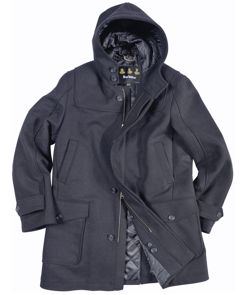 Barbour Mens Duffle Plain Coat- Navy In Discount