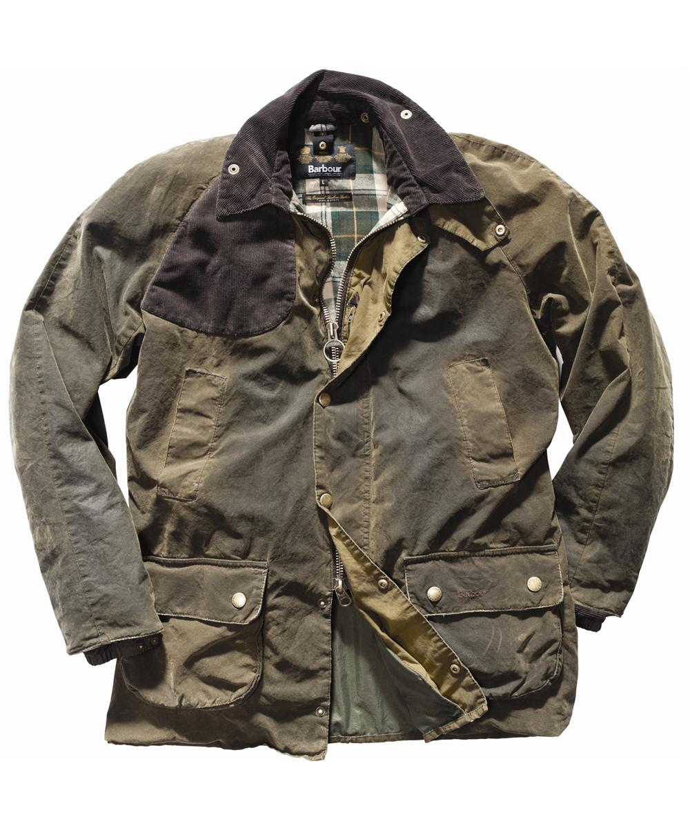 Mens Barbour Shap Waxed Jacket Olive In Discount