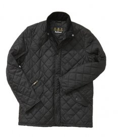 Barbour Chelsea Sportsquilt Jacket Black In Discount