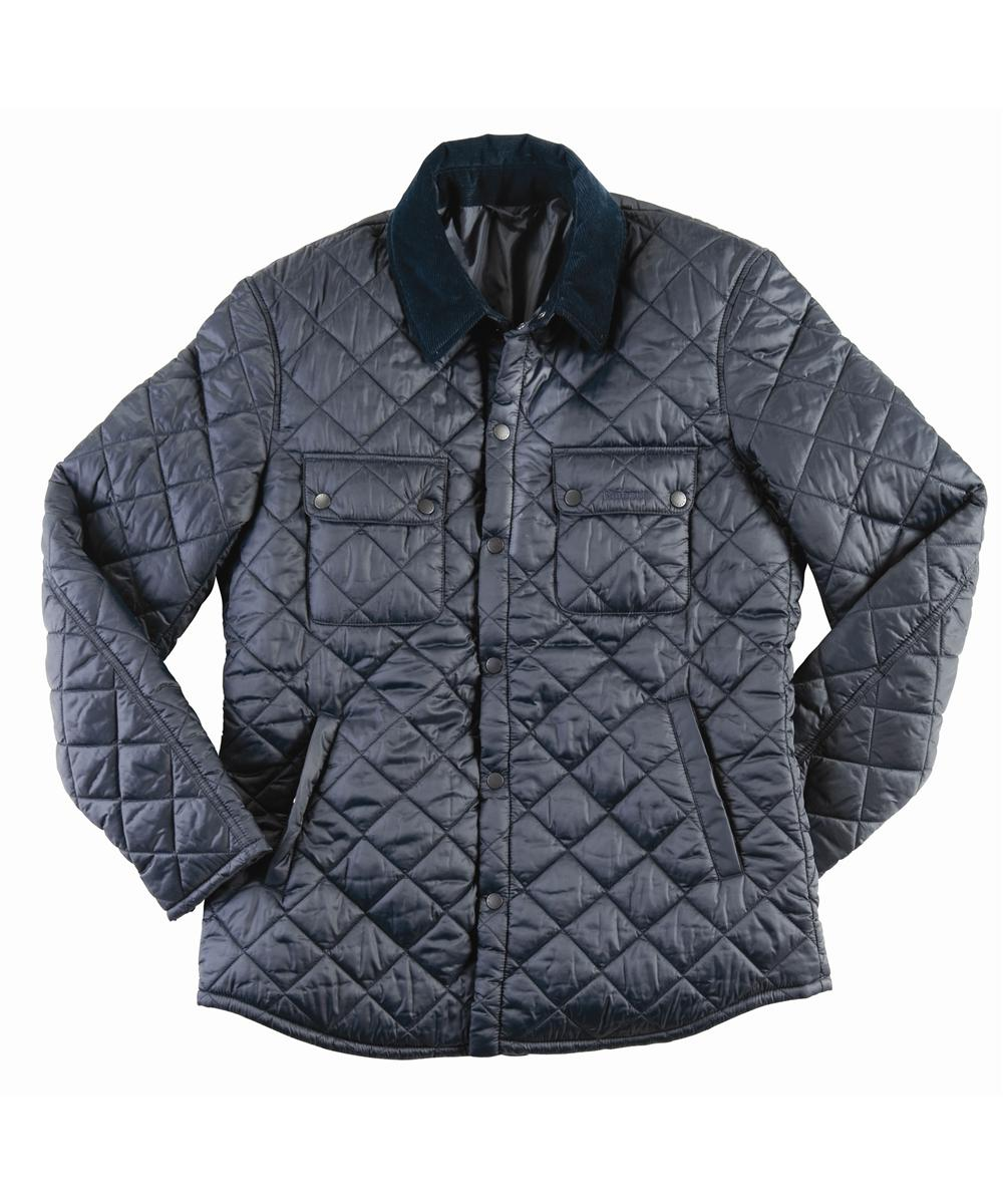 Mens Barbour Akenside Quilted Jacket Navy In Discount