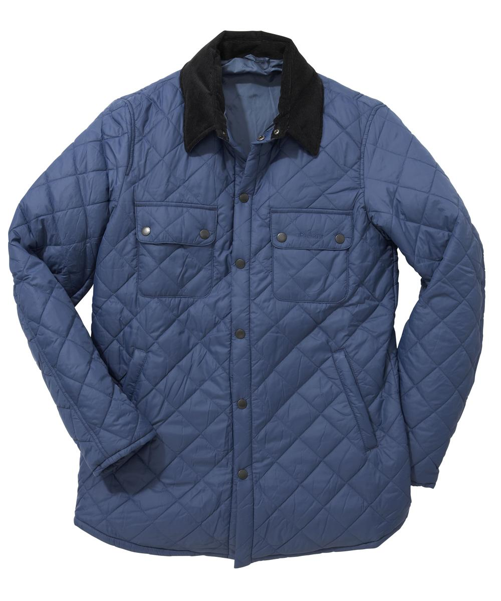 Mens Barbour Akenside Quilted Jacket Mid Blue In Discount