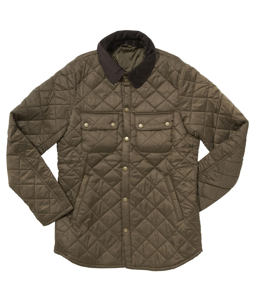 Mens Barbour Akenside Quilted Jacket Olive In Discount