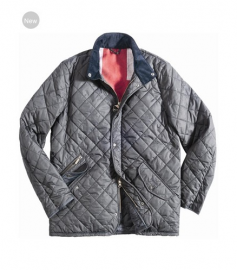 Men Barbour Moran Quilted Jacket Silver In Discount