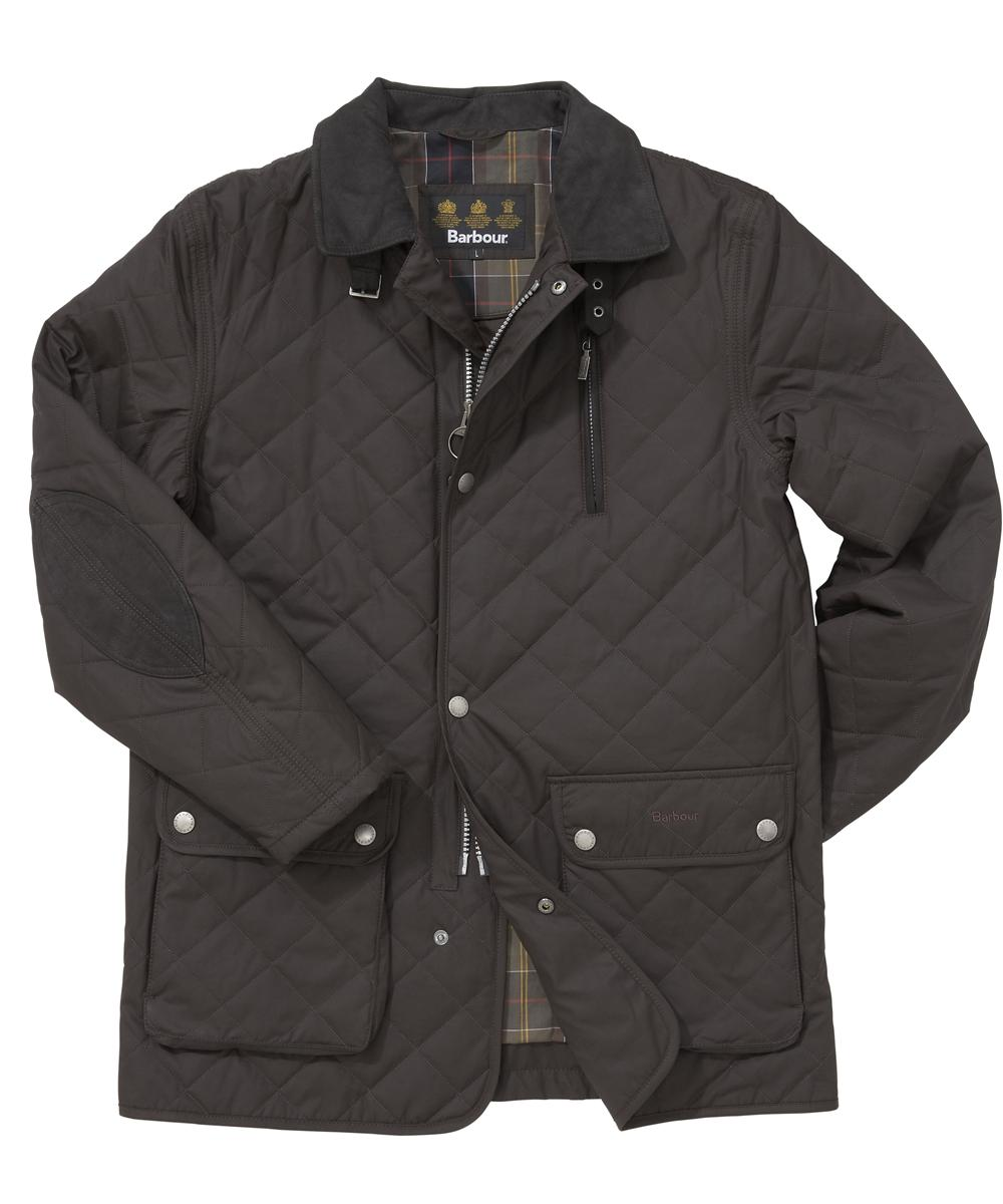 Mens Barbour Chiswick Quilted Jacket - Dark Brown In Discount