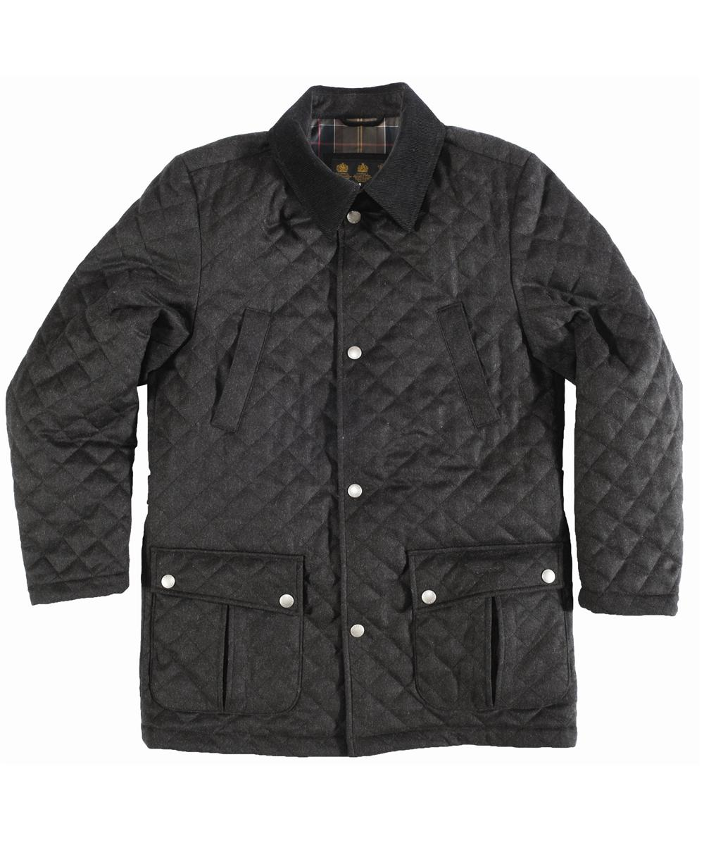 Mens Barbour Wool Spofforth Jacket Dark Anthracite In Discount