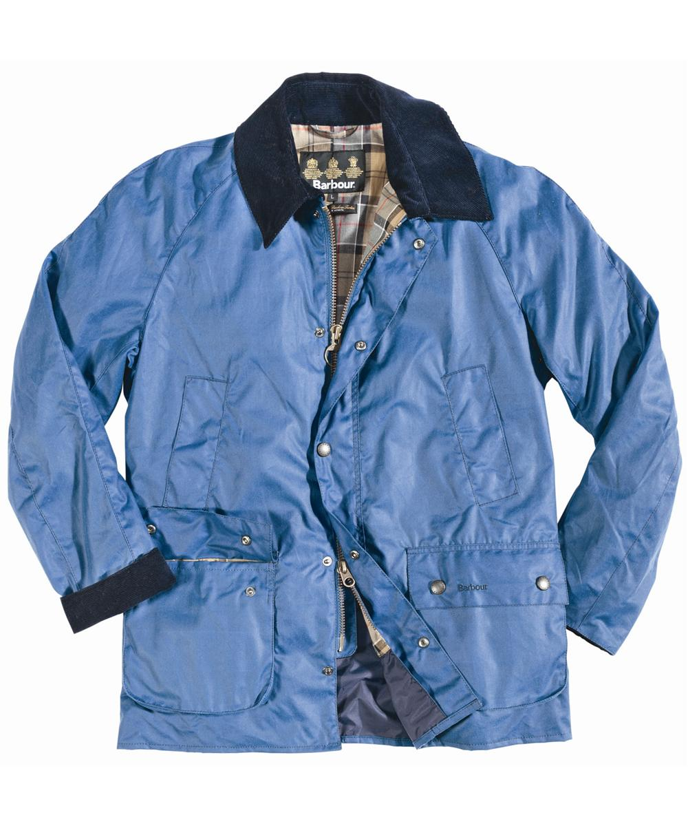 Mens Barbour Ashby Waxed Jacket - Blue In Discount