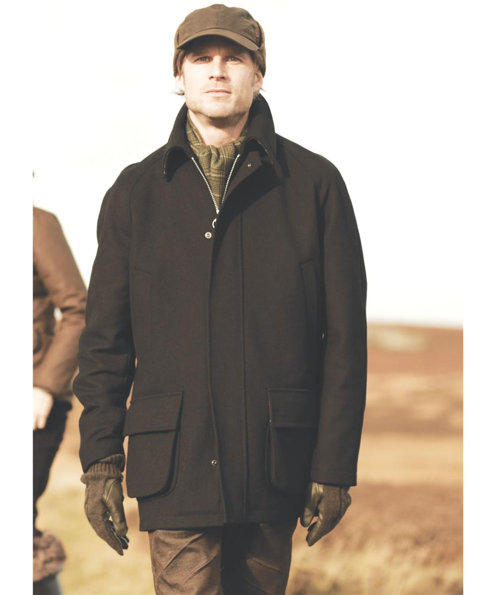 Mens Barbour Landguard Wool Jacket Black In Discount