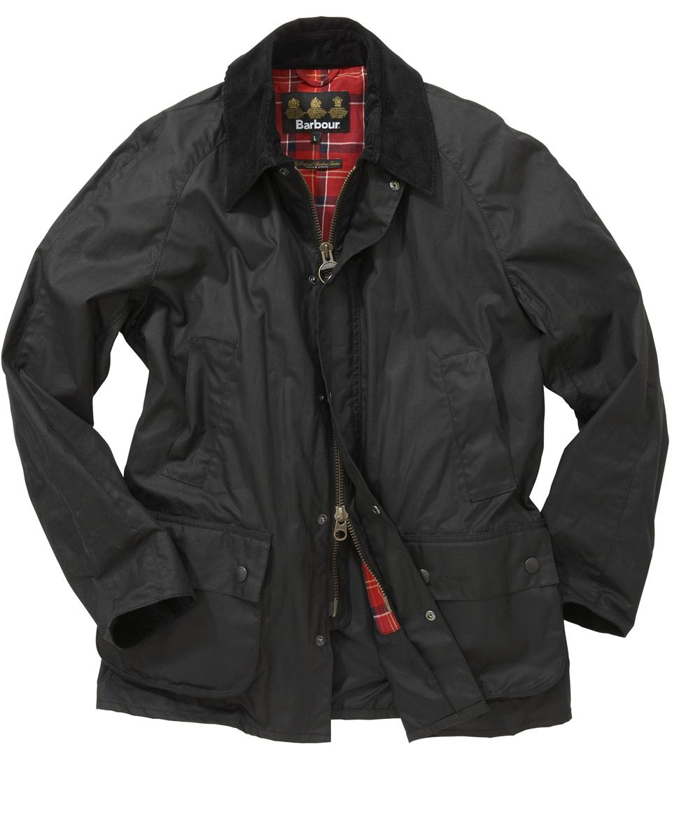 Mens Barbour Ashby Waxed Jacket - Black In Discount
