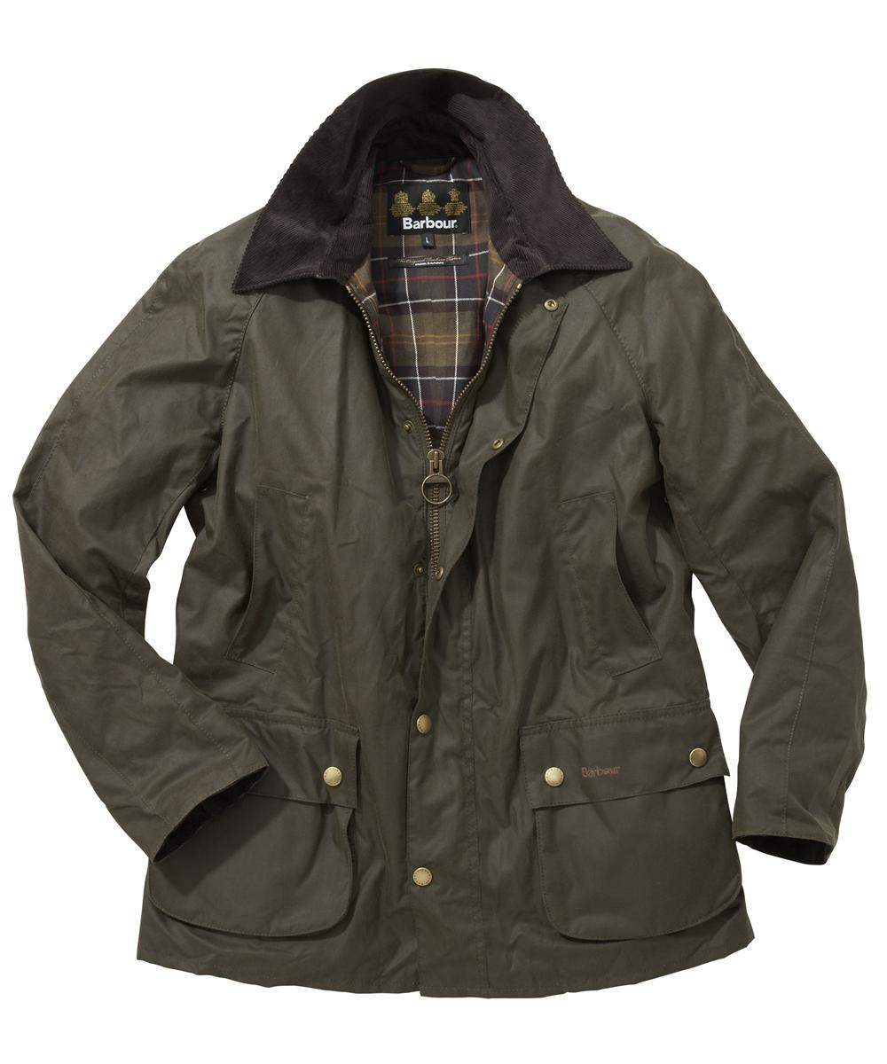Mens Barbour Ashby Waxed Jacket - Mid Olive In Discount