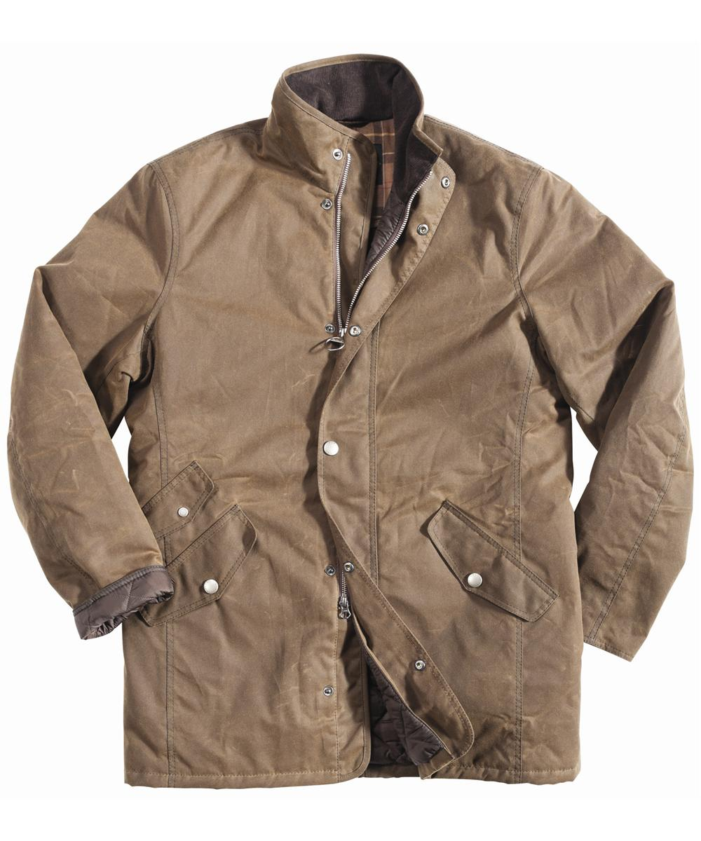 Mens Barbour Lundy Waxed Jacket - Brown In Discount
