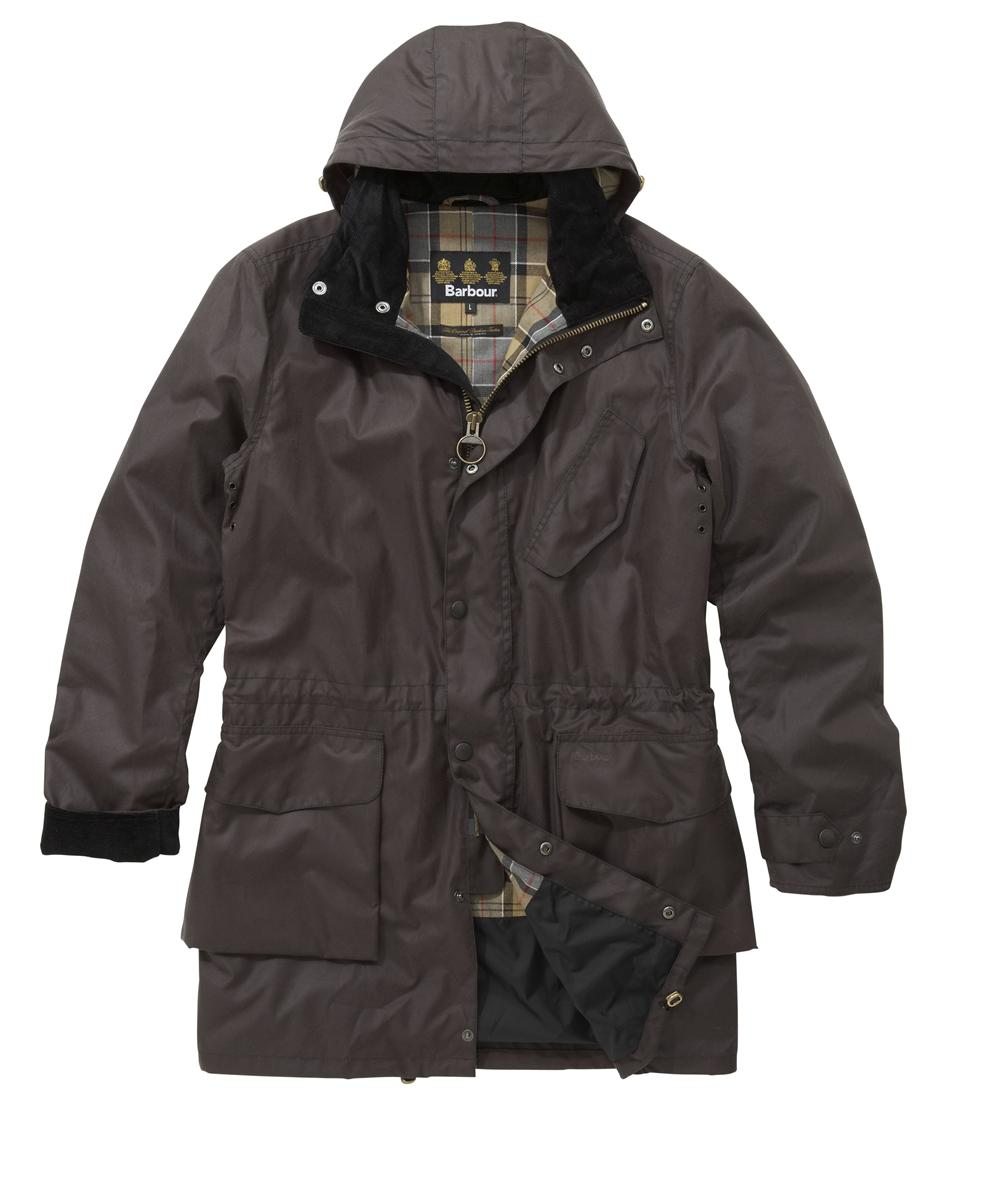 Mens Barbour Foreland Waxed Jacket - Charcoal In Discount