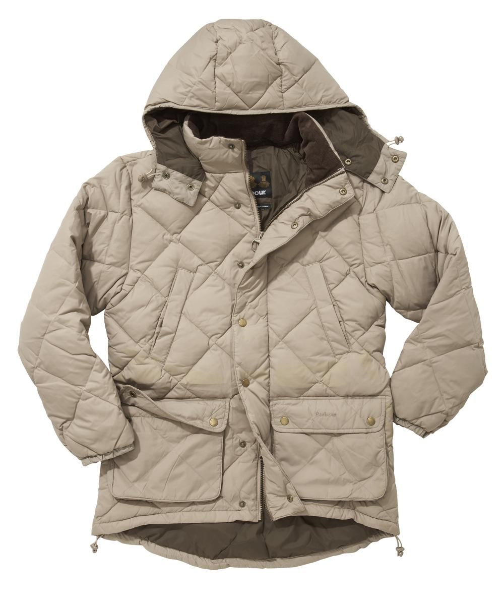 Barbour Down Explorer Jacket - Stone In Discount