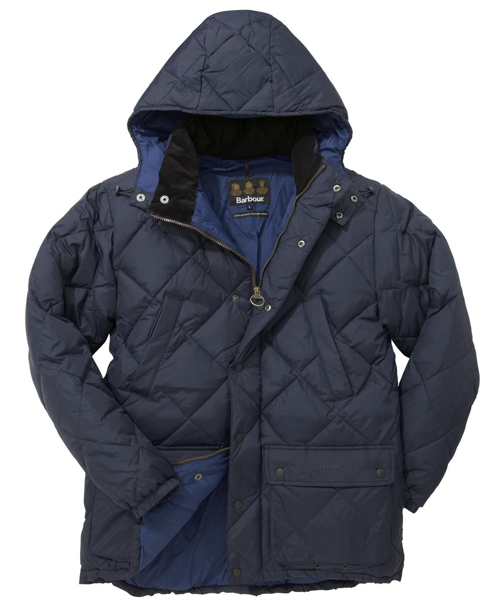Barbour Down Explorer Jacket - Dark Navy In Discount