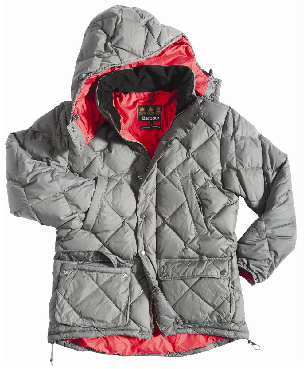 Barbour Down Explorer Jacket - Charcoal | Red In Discount