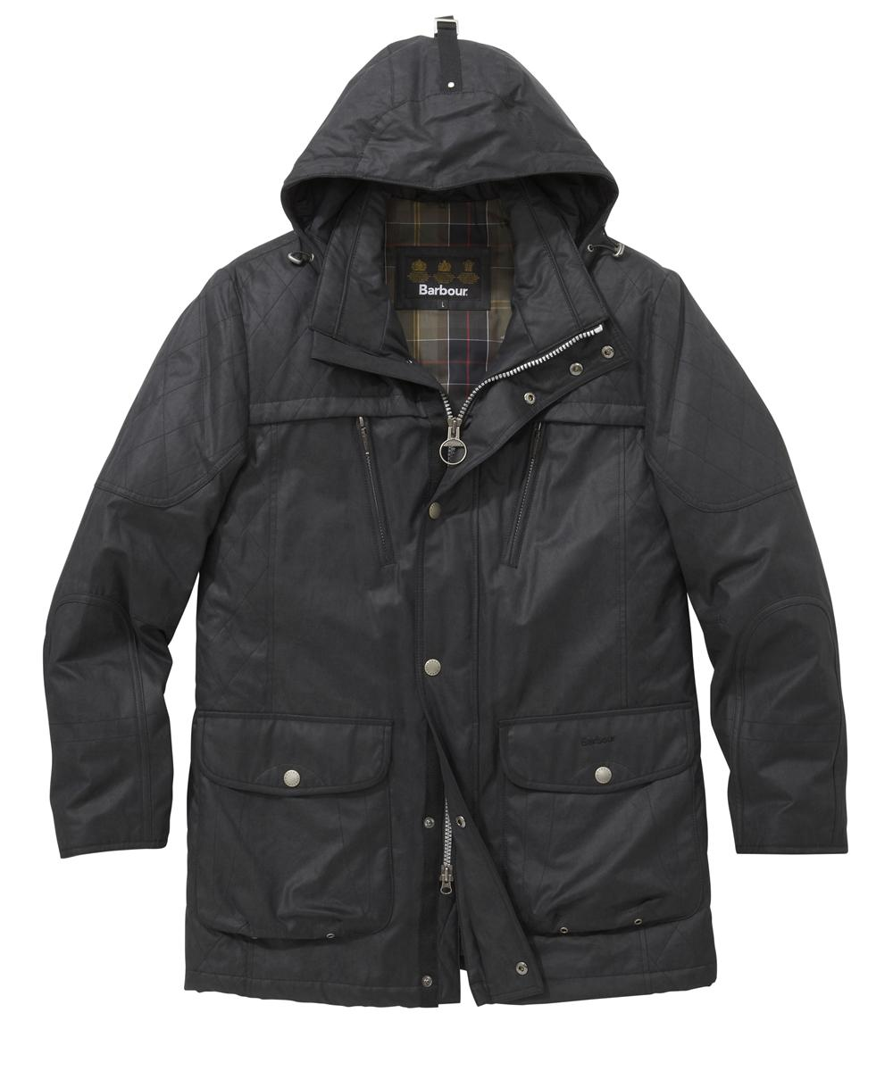 Mens Barbour Thetford Waterproof Jacket - Black In Discount