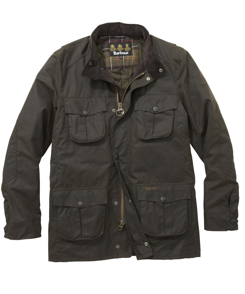 Mens Barbour Corbridge Waxed Jacket - Olive In Discount