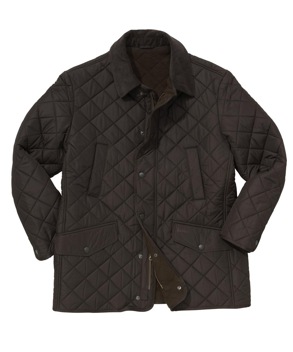 Barbour Bardon Quilt Jacket- Dark Brown In Discount