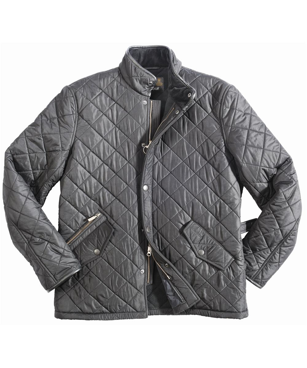 Mens Barbour Powell Quilted Jacket - Black In Discount