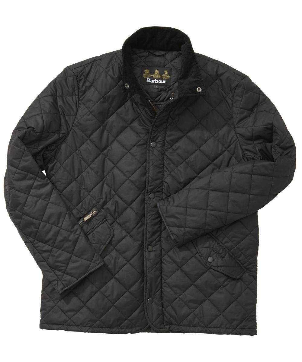 Barbour Chelsea Sportsquilt Jacket- Black In Discount