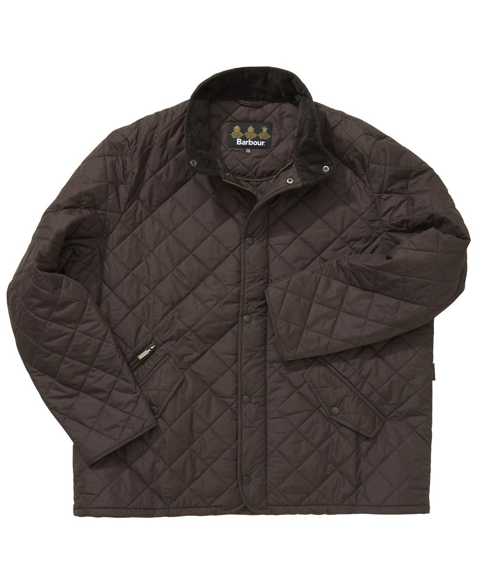 Barbour Chelsea Sportsquilt Jacket- Dark Brown In Discount