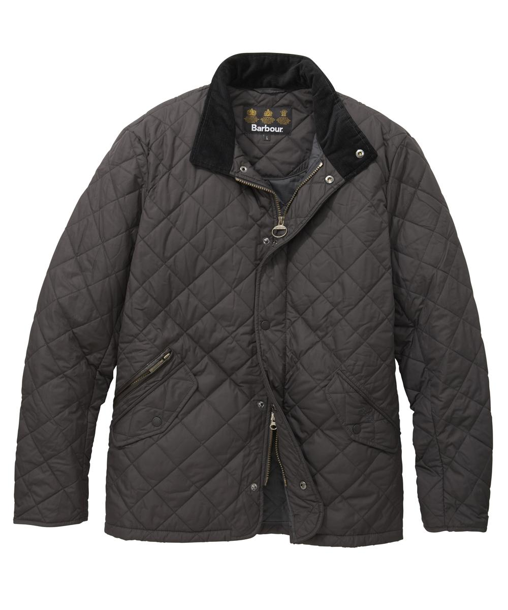 Barbour Chelsea Sportsquilt Jacket - Charcoal In Discount