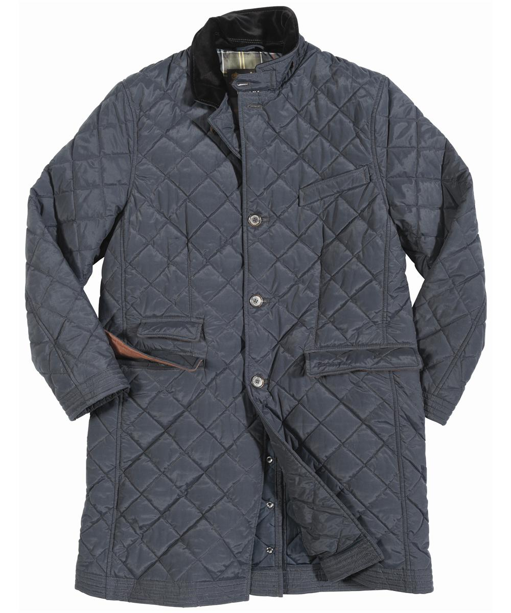 Mens Barbour Walltown Quilted Jacket - Navy In Discount
