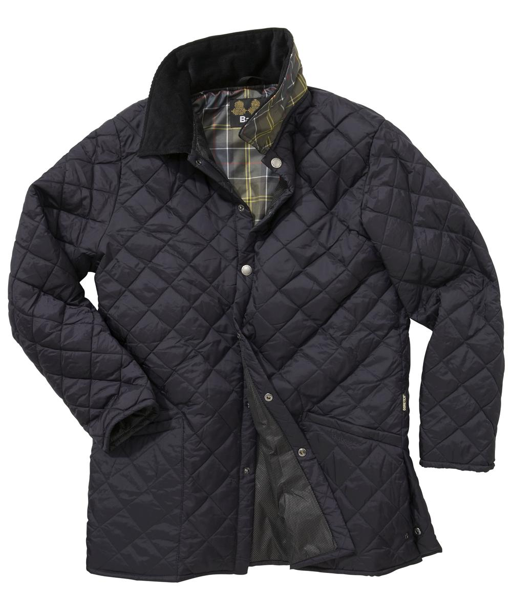 Mens Barbour Drigg Quilted Jacket - Navy In Discount