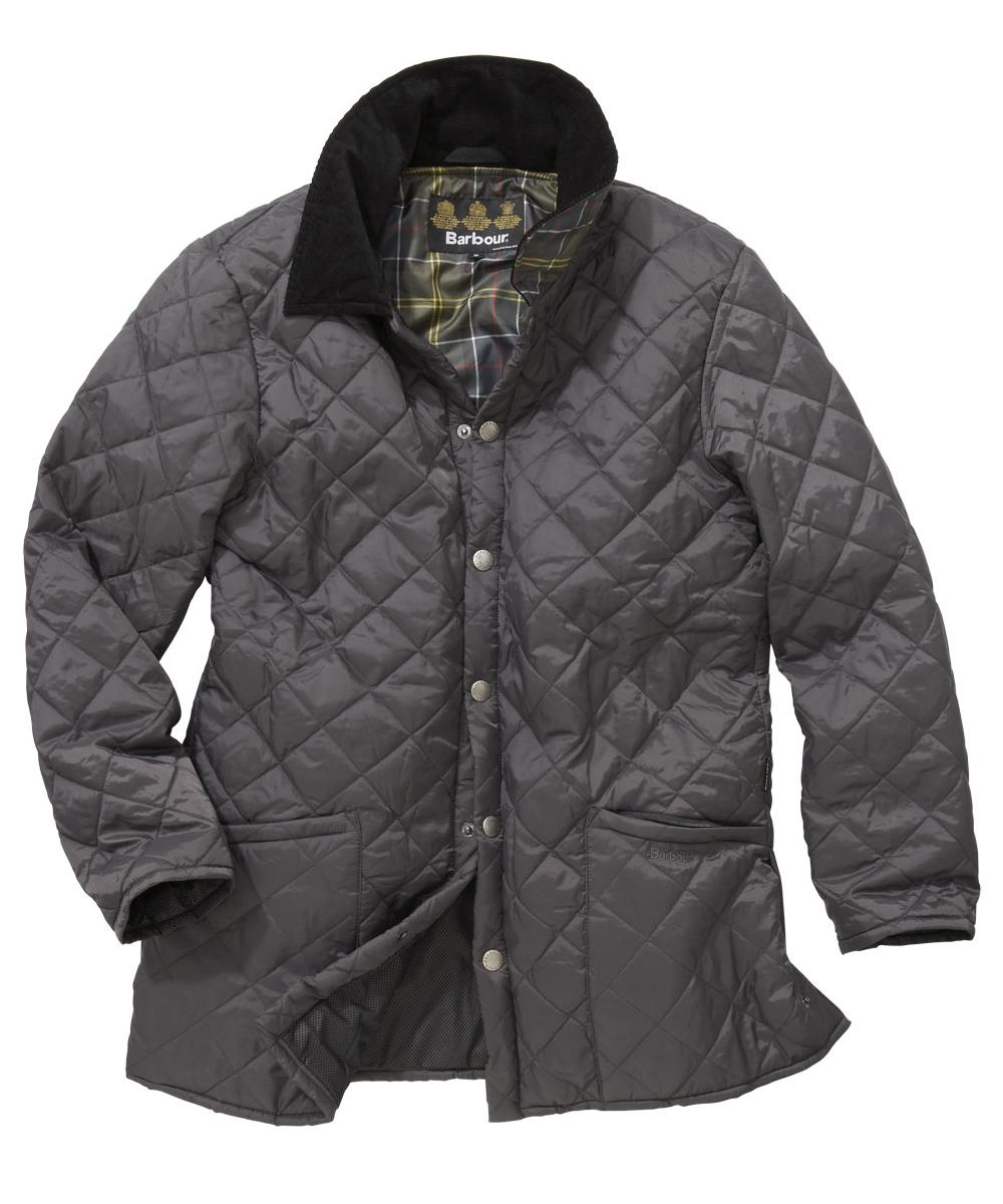 Mens Barbour Drigg Quilted Jacket - Charcoal In Discount