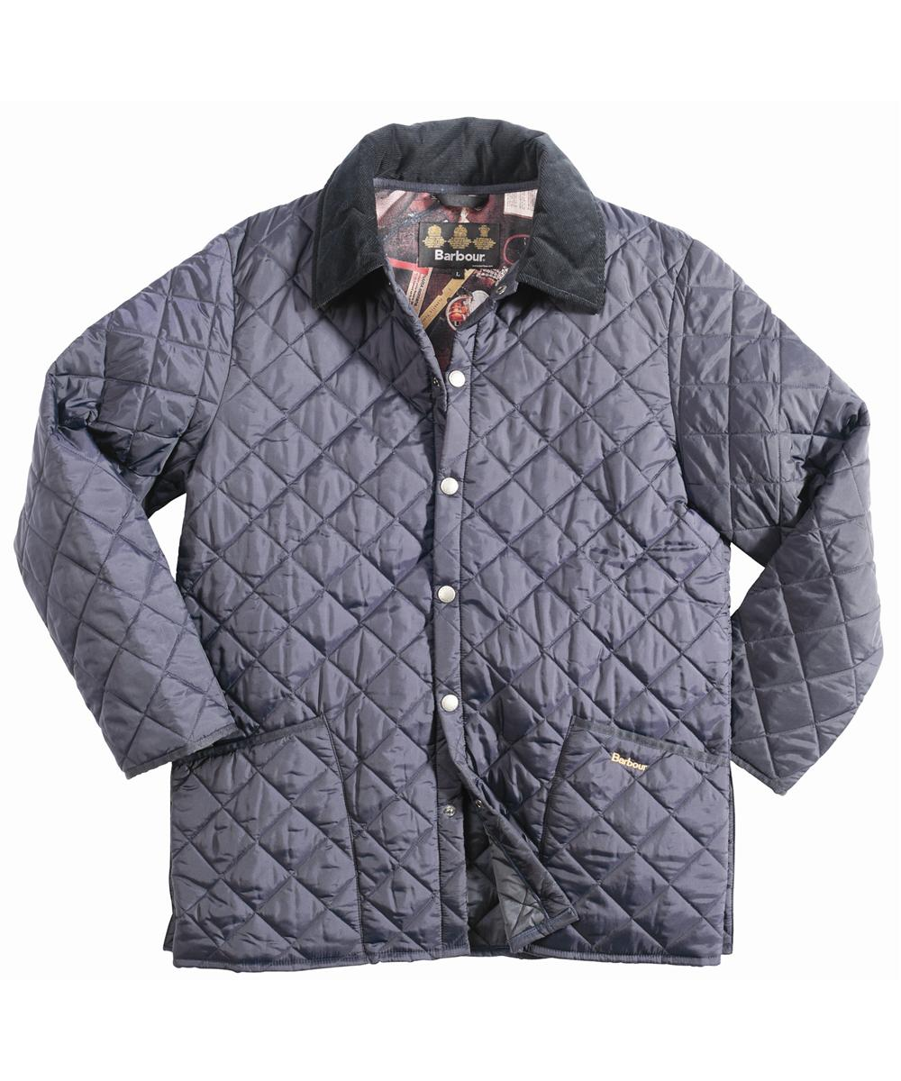 Mens Barbour Yarmouth Quilted Jacket Navy In Discount