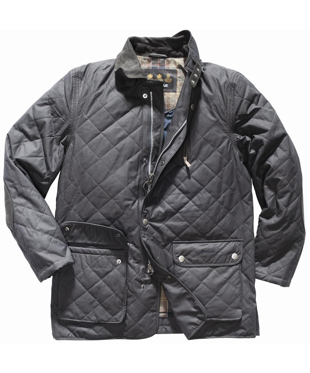 Mens Barbour Chiswick Quilted Jacket - Navy In Discount