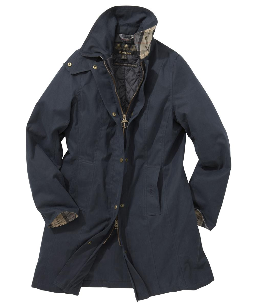 Barbour Winter Cotton Belsay Waterproof Jacket Navy Sale
