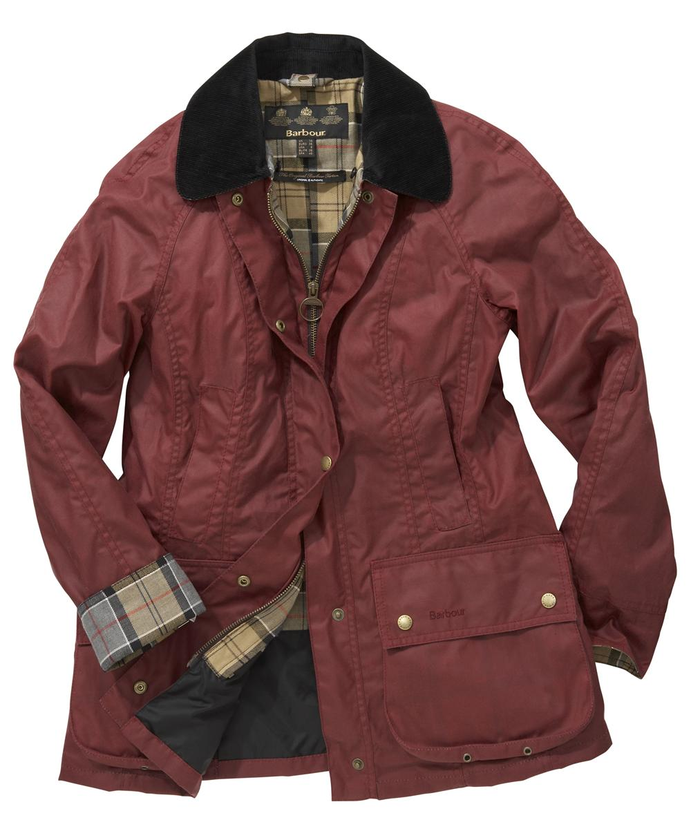Barbour Classic Beadnell Jacket Dark Red Sale