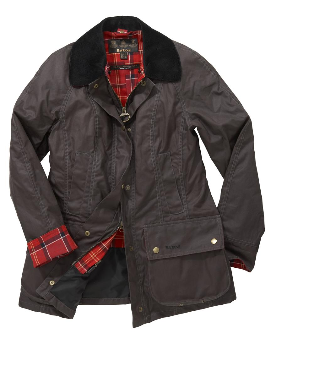 Barbour Classic Beadnell Jacket Charcoal Sale