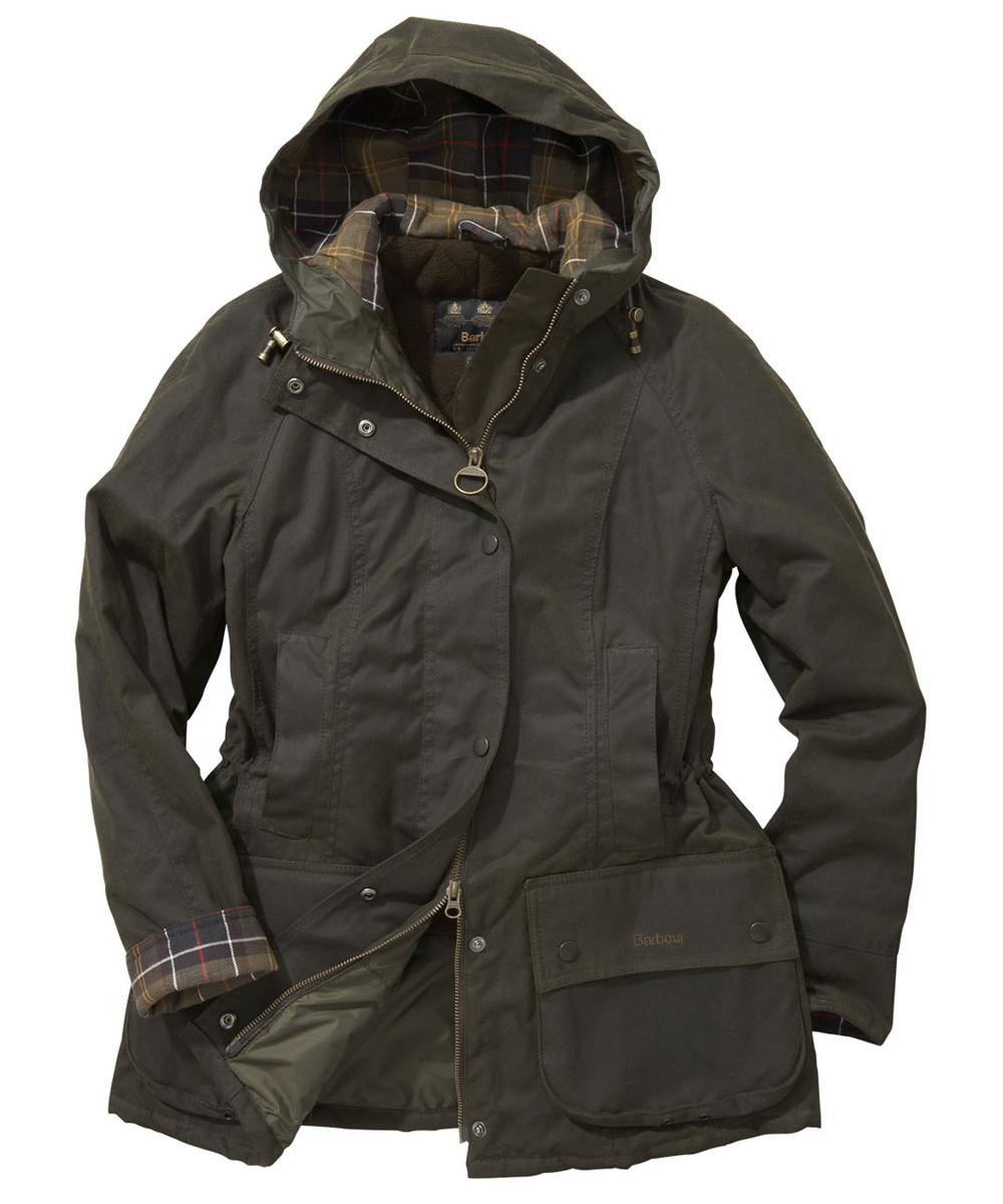 Barbour Beadnell Parka Waxed Jacket Olive Sale