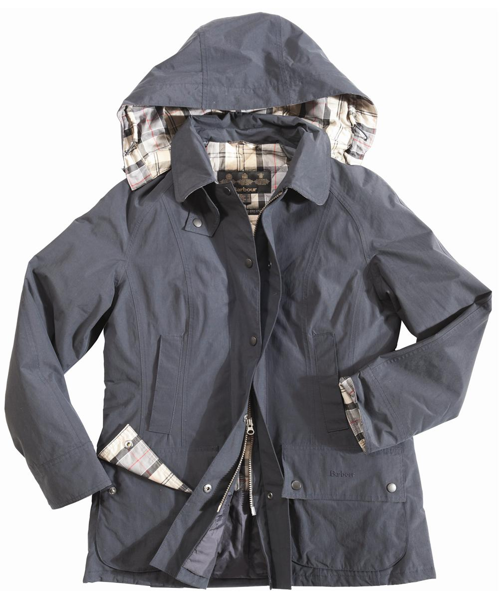 Womens Barbour Outdoor Beadnell Waterproof Jacket Navy Sale