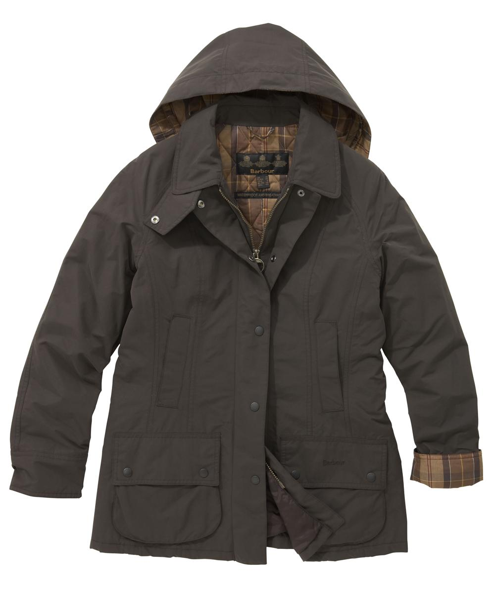 Womens Barbour Outdoor Beadnell Waterproof Jacket Dark Brown Sale