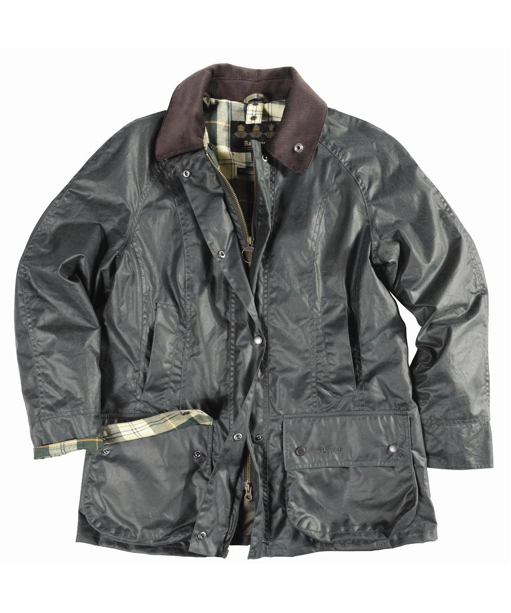 Barbour Ladies Beadnell Waxed Jacket Sage | Ancient Tartan Sale