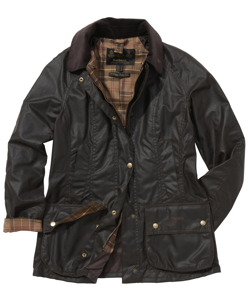 Barbour Ladies Beadnell Jacket- Rustic | Muted Tartan Sale