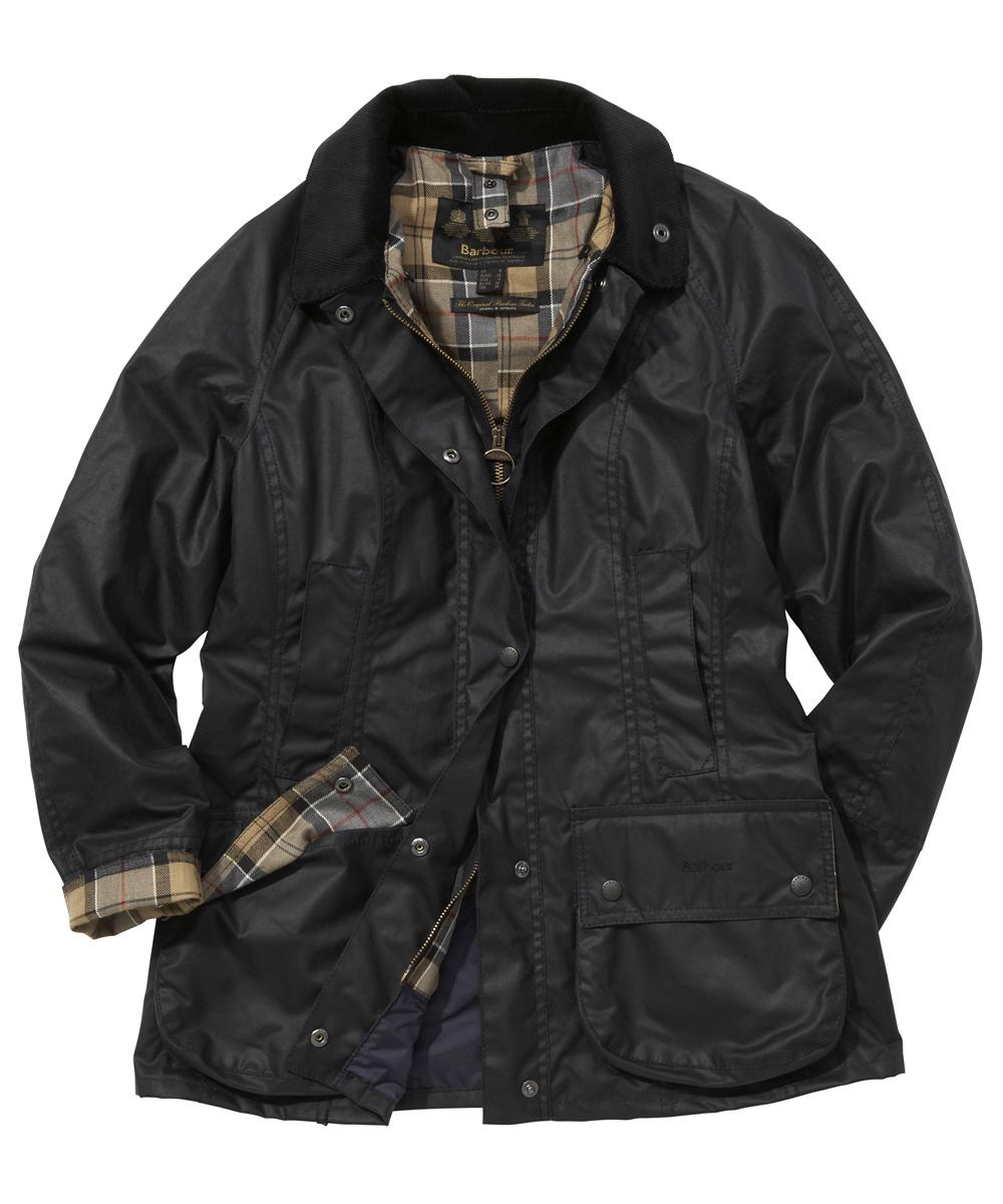 Barbour Ladies Beadnell Jacket- Navy | Dress Tartan Sale